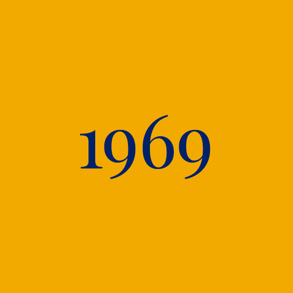 Link to 1969 page, navy text on yellow background